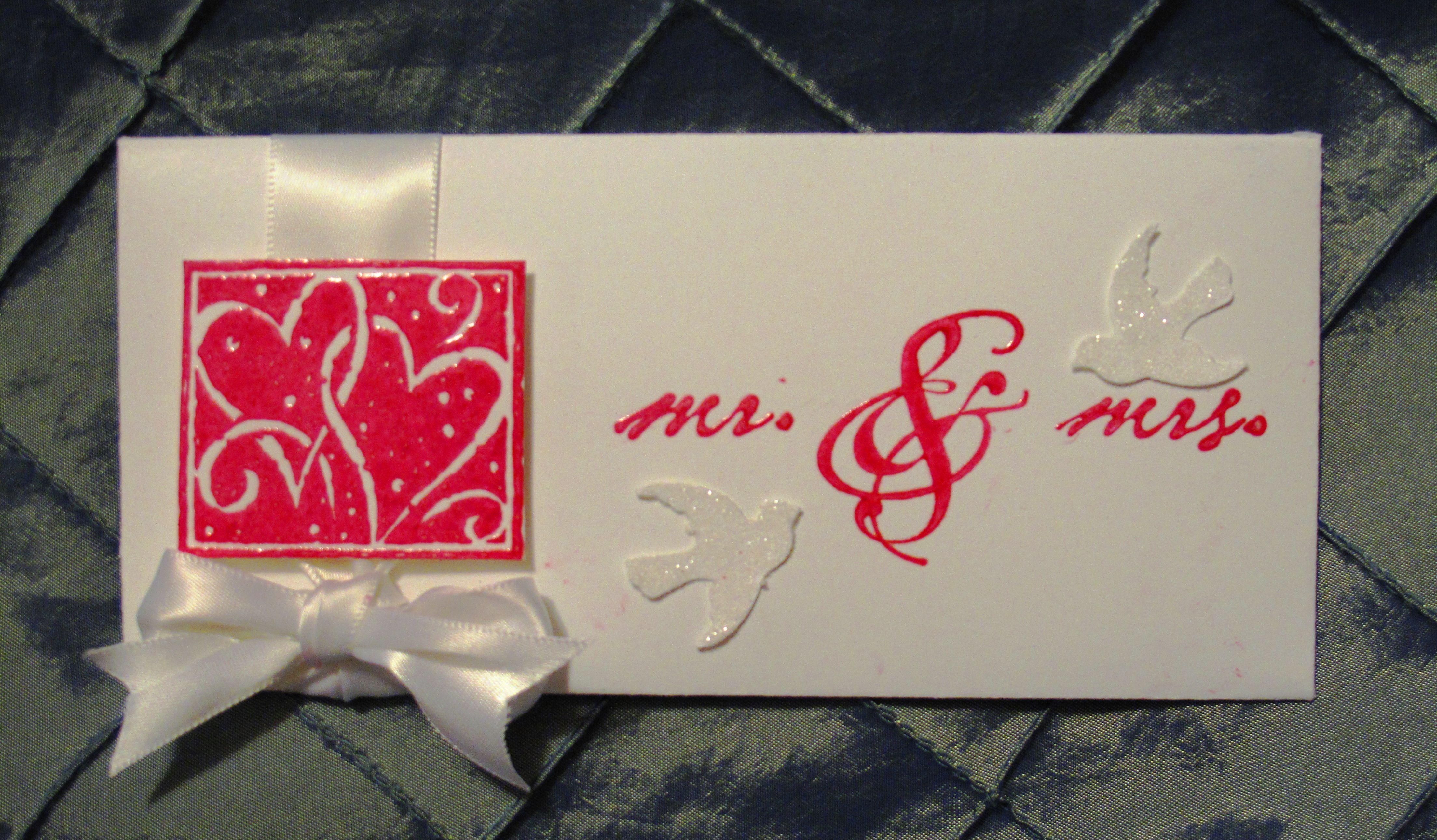 Wedding Gift Envelopes For Money : Wedding Money Envelope Money envelopes Pinterest