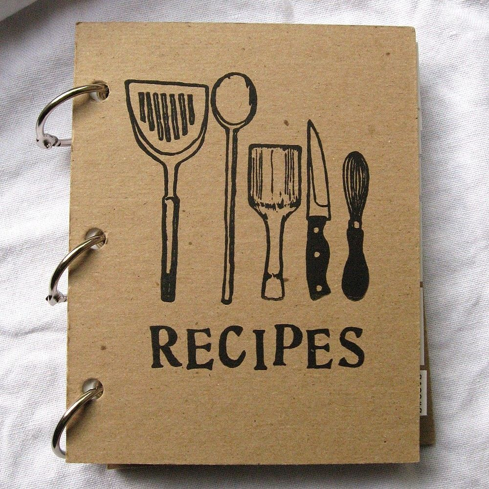Homemade Recipe Book Cover Ideas ~ Diy your own recipe book homemade books pinterest