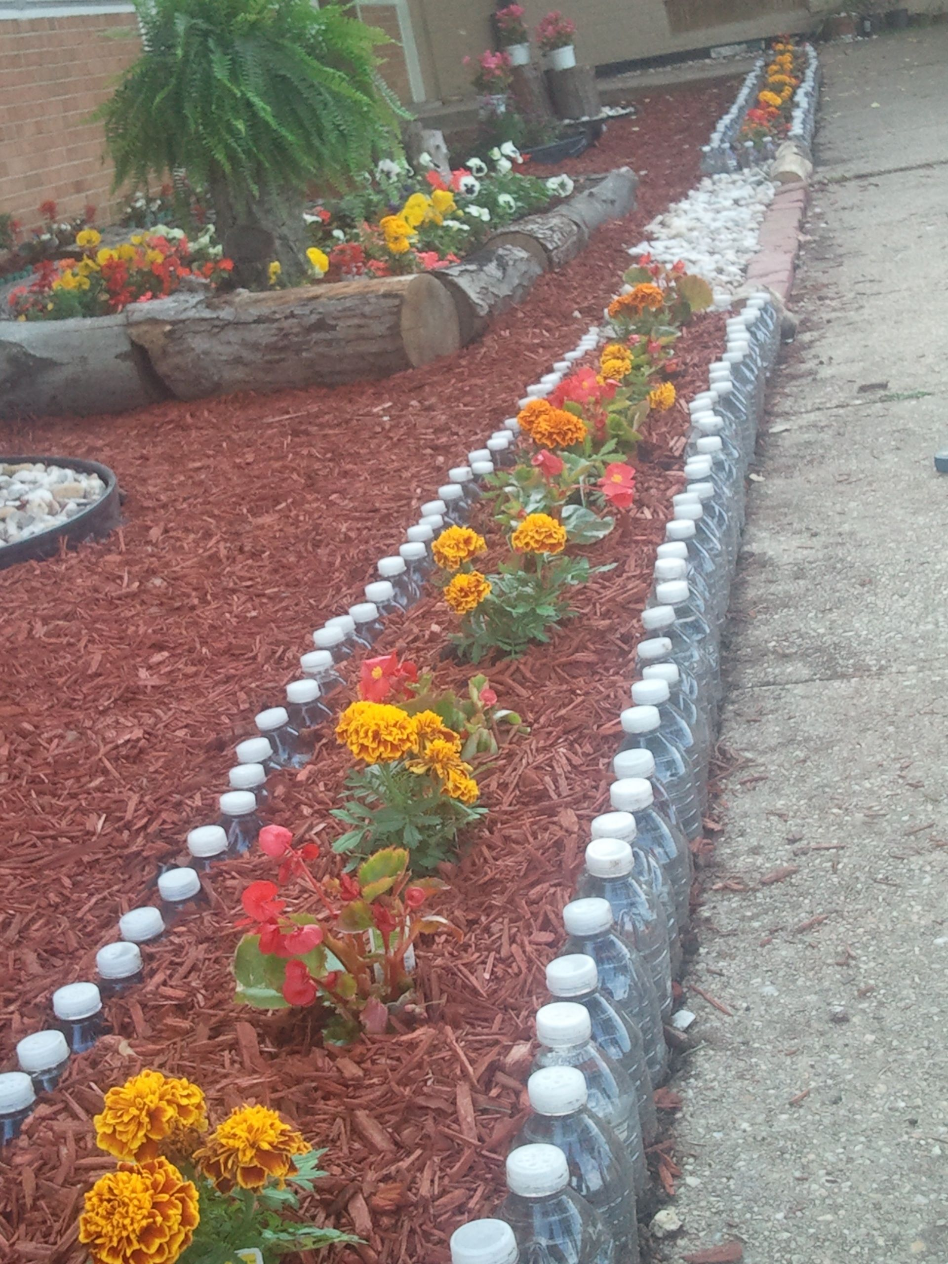 Plastic bottle garden wall recycle reuse pinterest - Plastic bottle garden wall ...