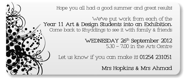 Sample text for exhibition invitation invitationswedd art exhibition invites samples google search invitation ideas stopboris Gallery