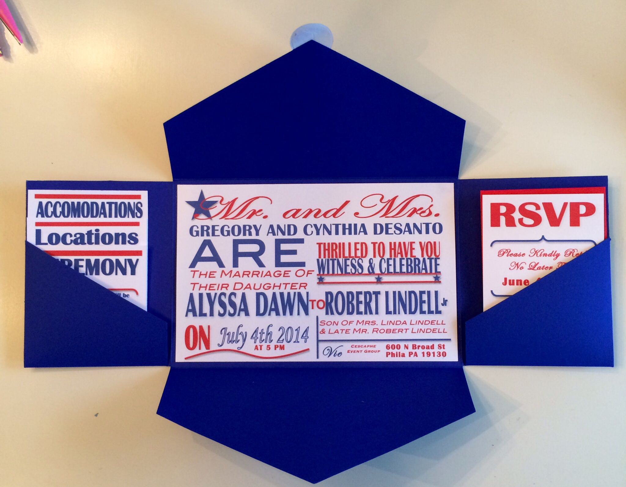 images for 4th of july wedding invitations