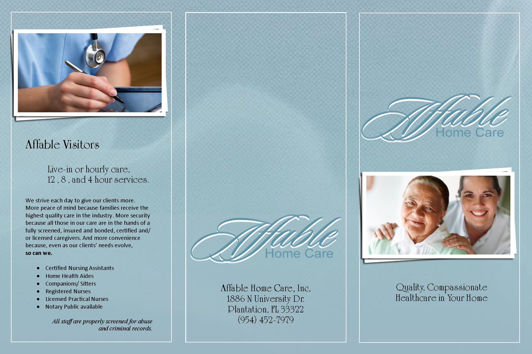 Affable home care brochure front creative pinterest