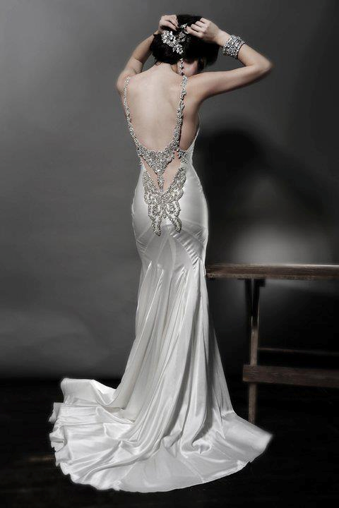 Weding gown blinged out back who doesn 39 t love wedding for Blinged out wedding dress