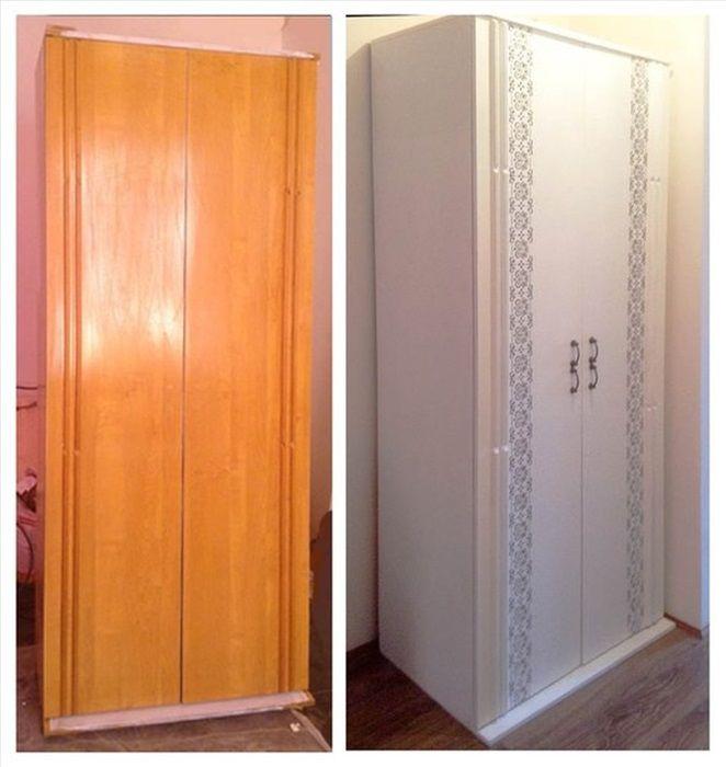 Переделка старого шкафа своими руками фото до и после