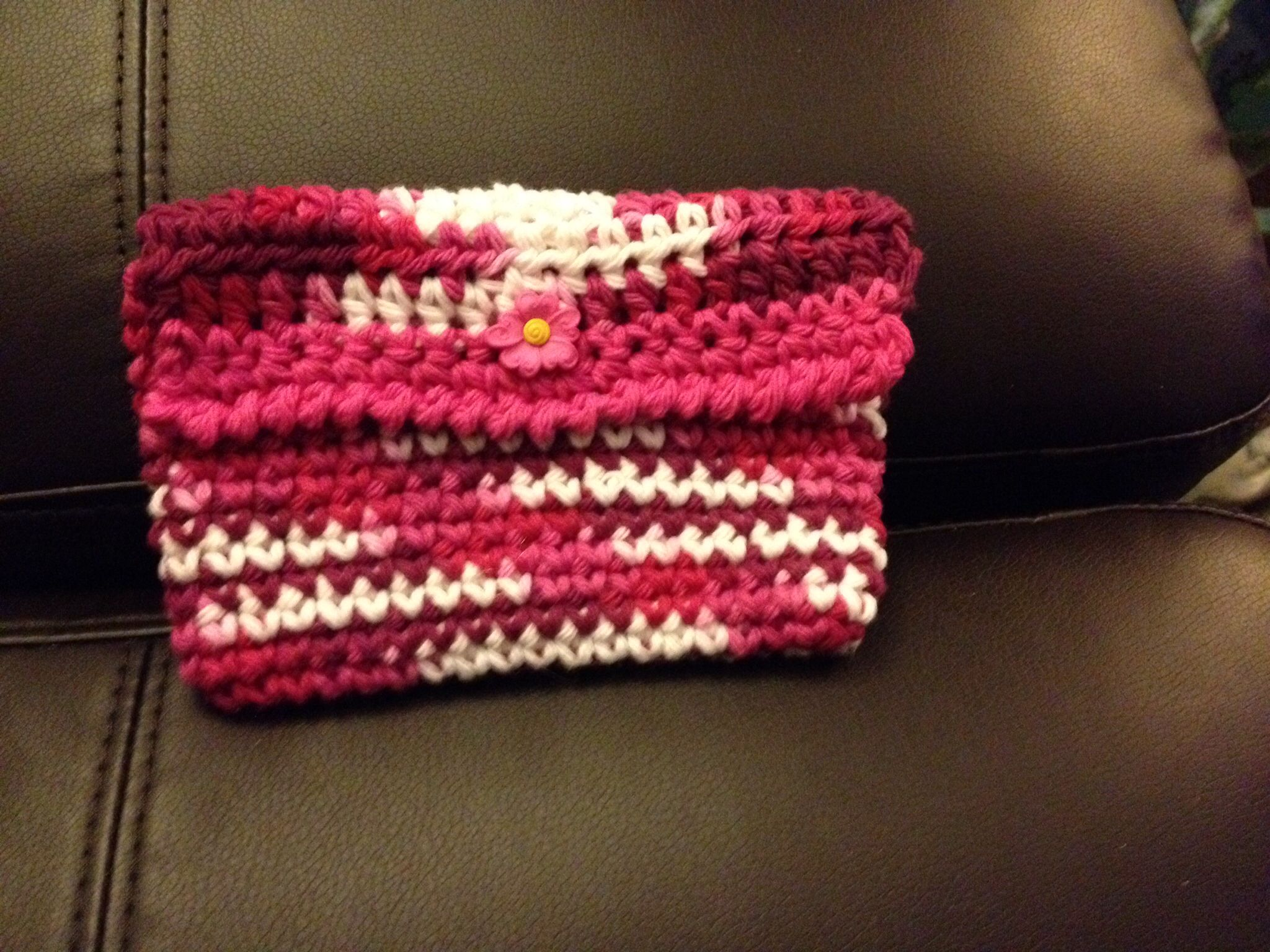 Crochet Cosmetic Bag : Crochet clutch or cosmetic bag. TASSEN / BAGS (CROCHET) Pinterest