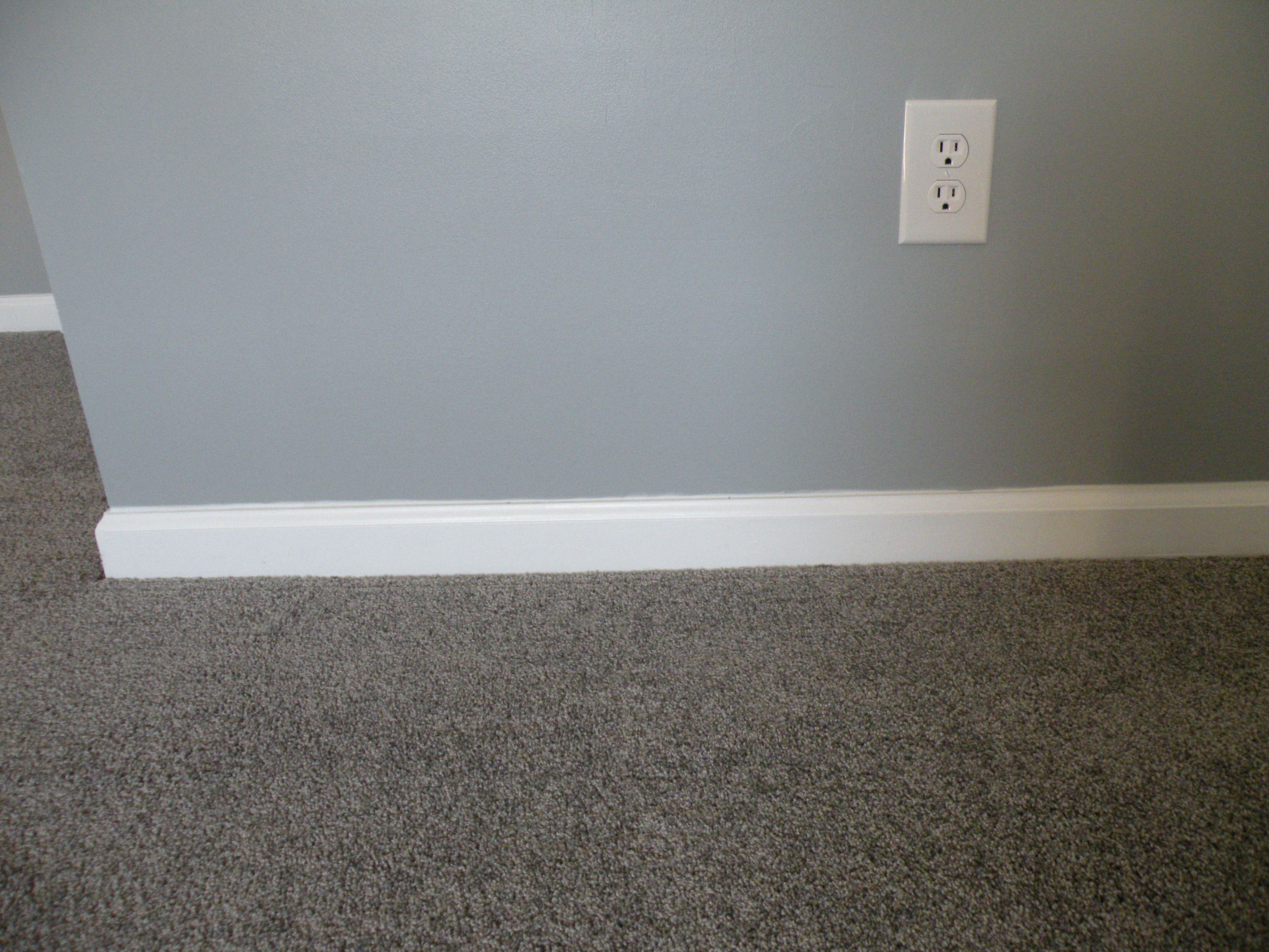 gray walls gray carpet with white trim favortie meals
