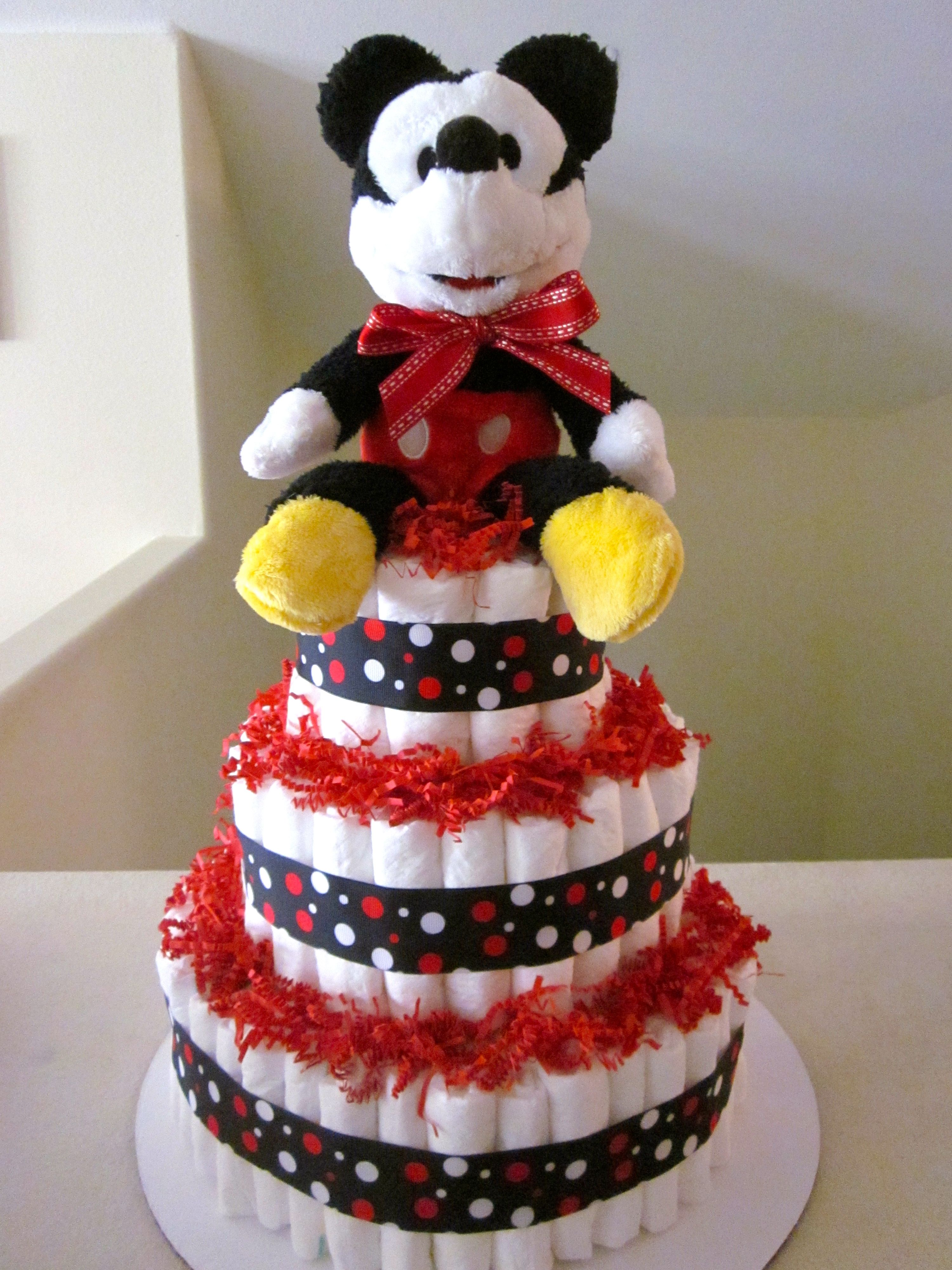 Mickey Mouse Baby Shower Cake Images : Mickey Mouse diaper cake Baby Shower gifts Pinterest