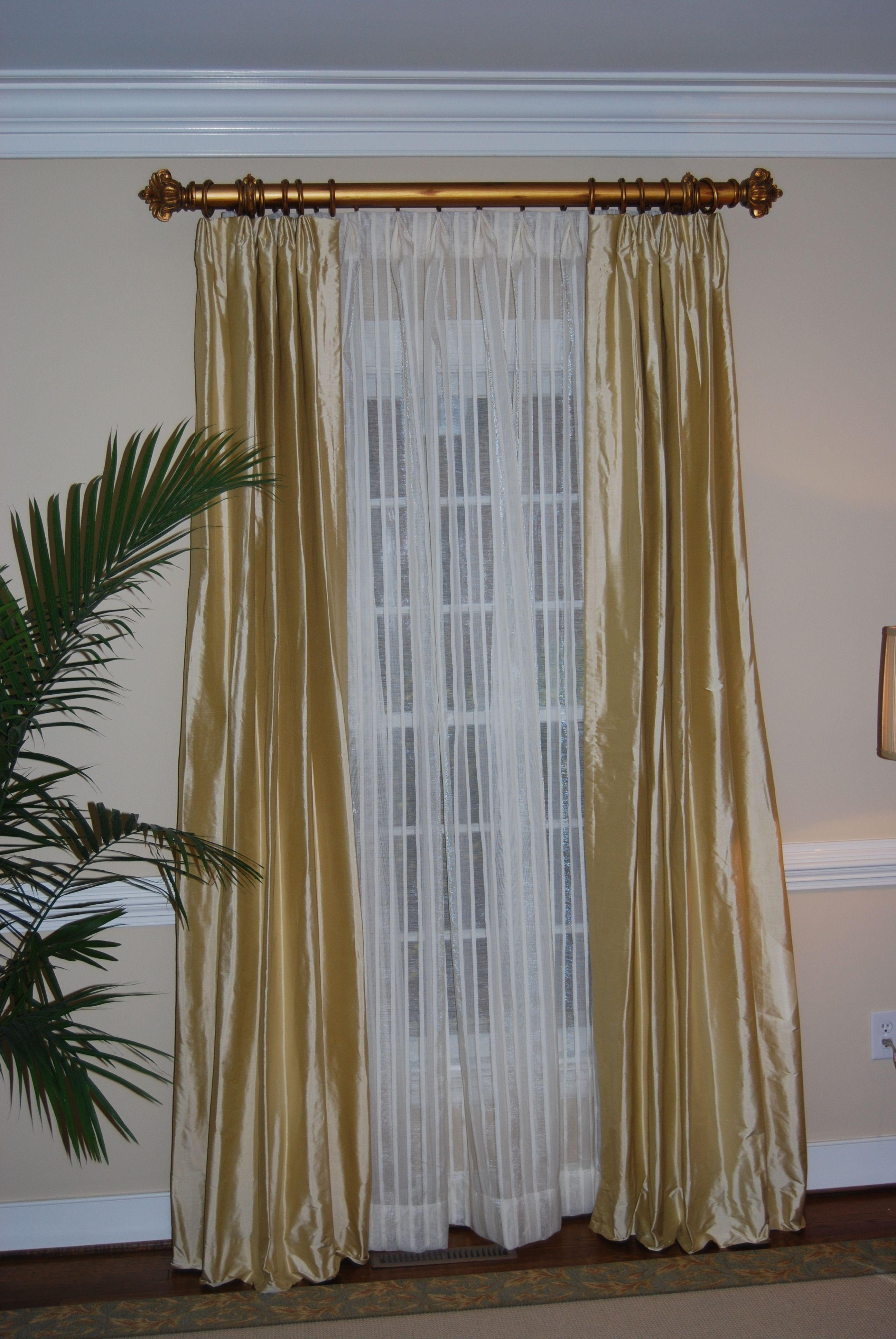 Double Rod Panels W Sheers Behind Window Treatments