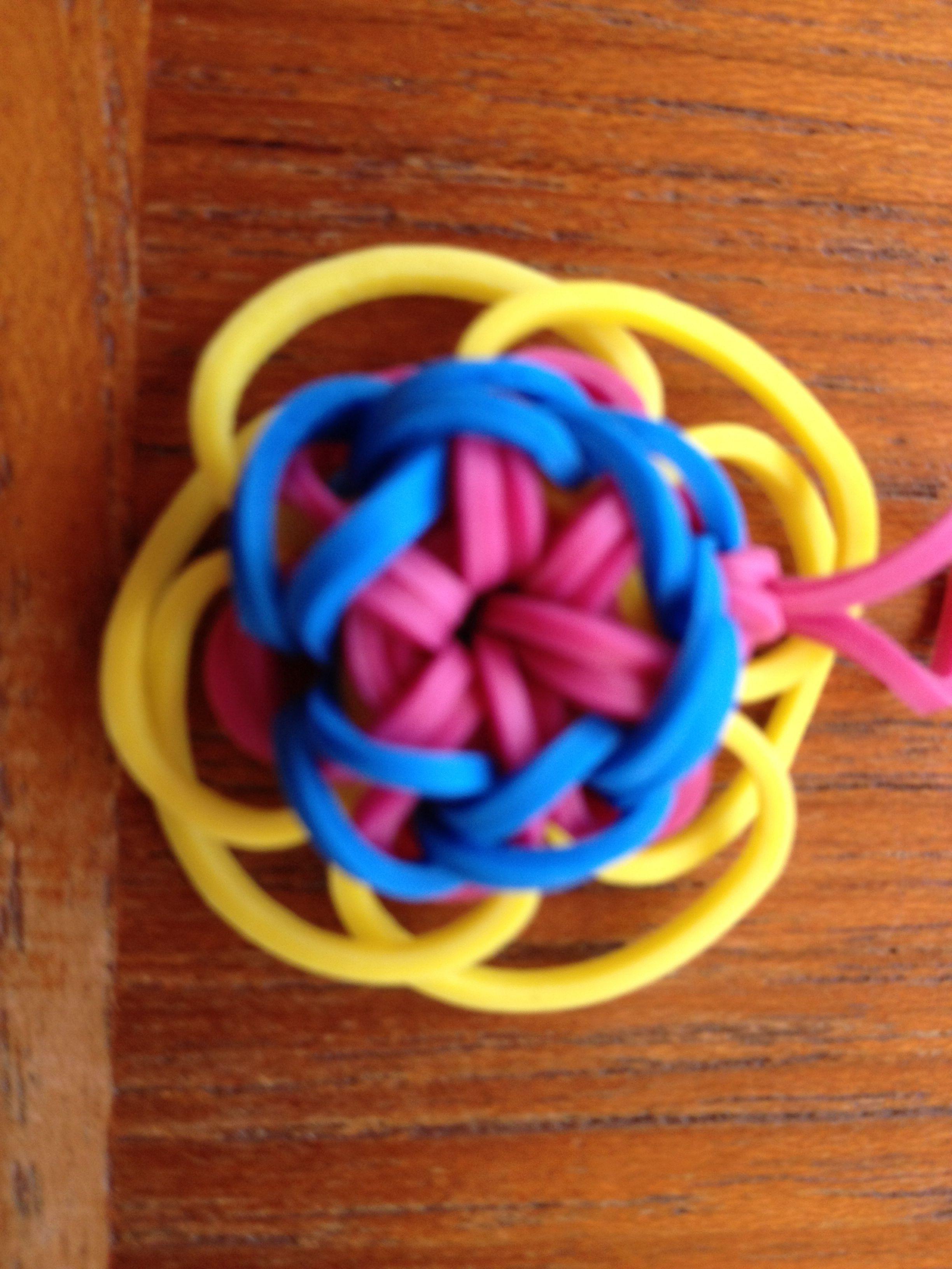 rainbow loom flower charm loom band obsessions