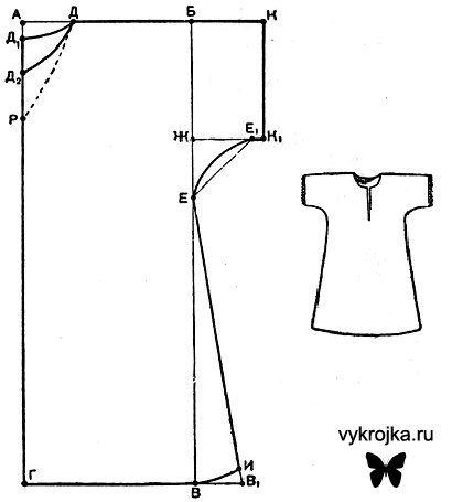 Как сшить ночную сорочку поэтапно
