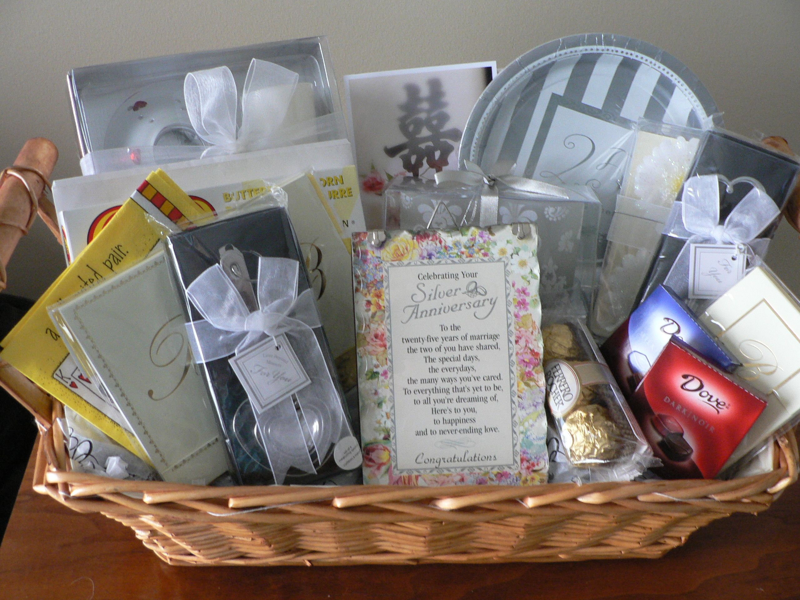 Gift Basket For 25th Wedding Anniversary : Wedding Anniversary