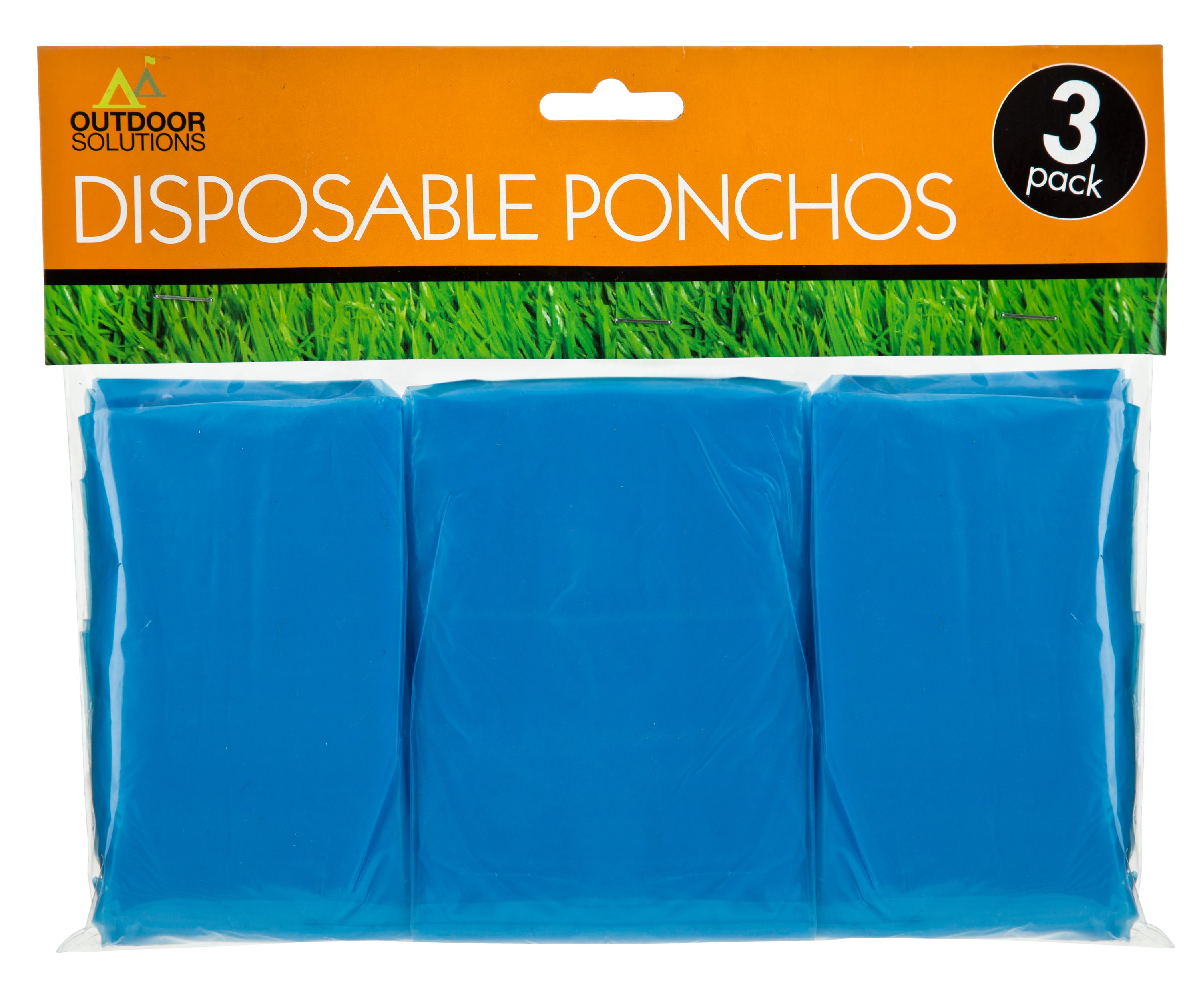 Pack of three disposable ponchos from Poundland