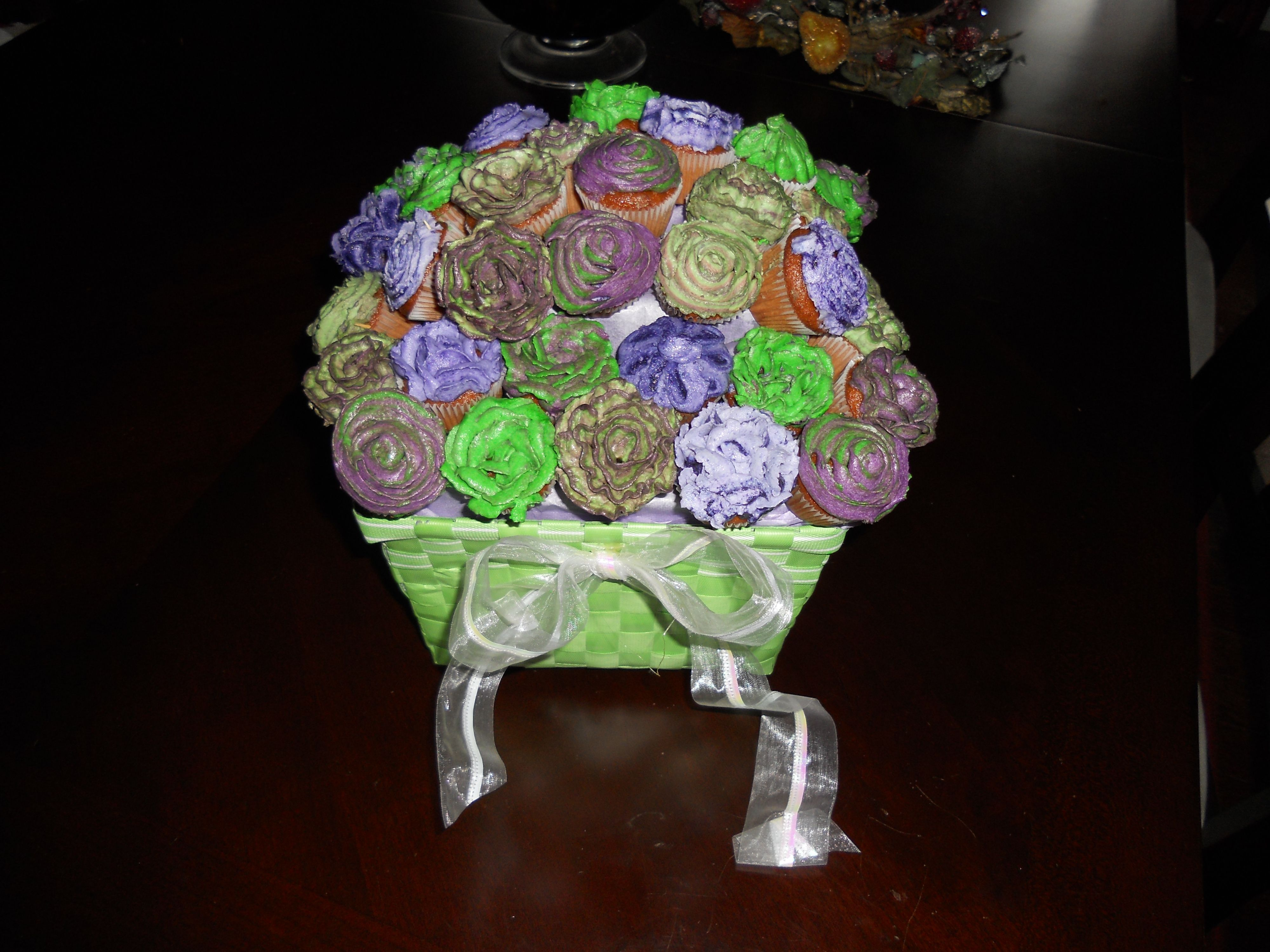 cupcake flower arrangements