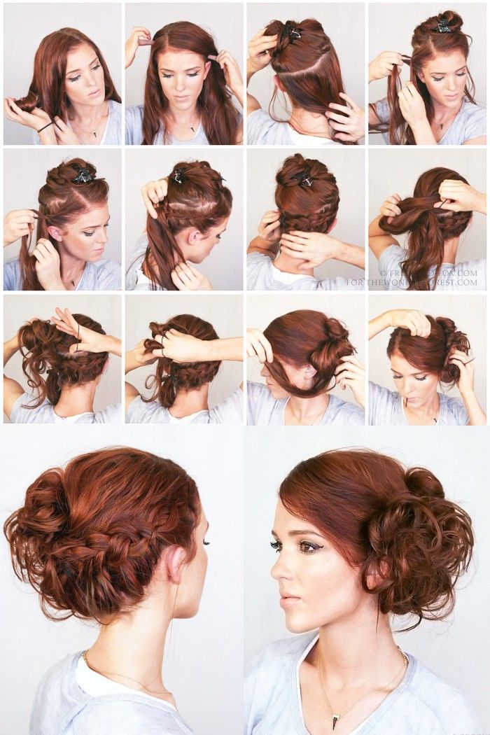 Пошаговые прически для волос средней длины