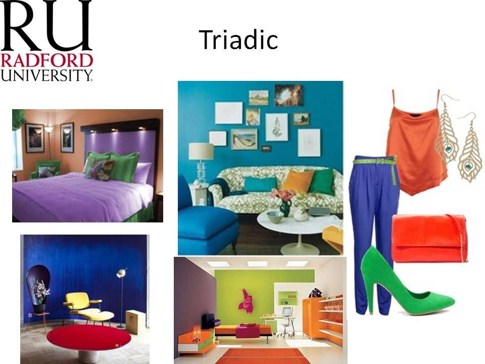 triadic color scheme interior design pinterest