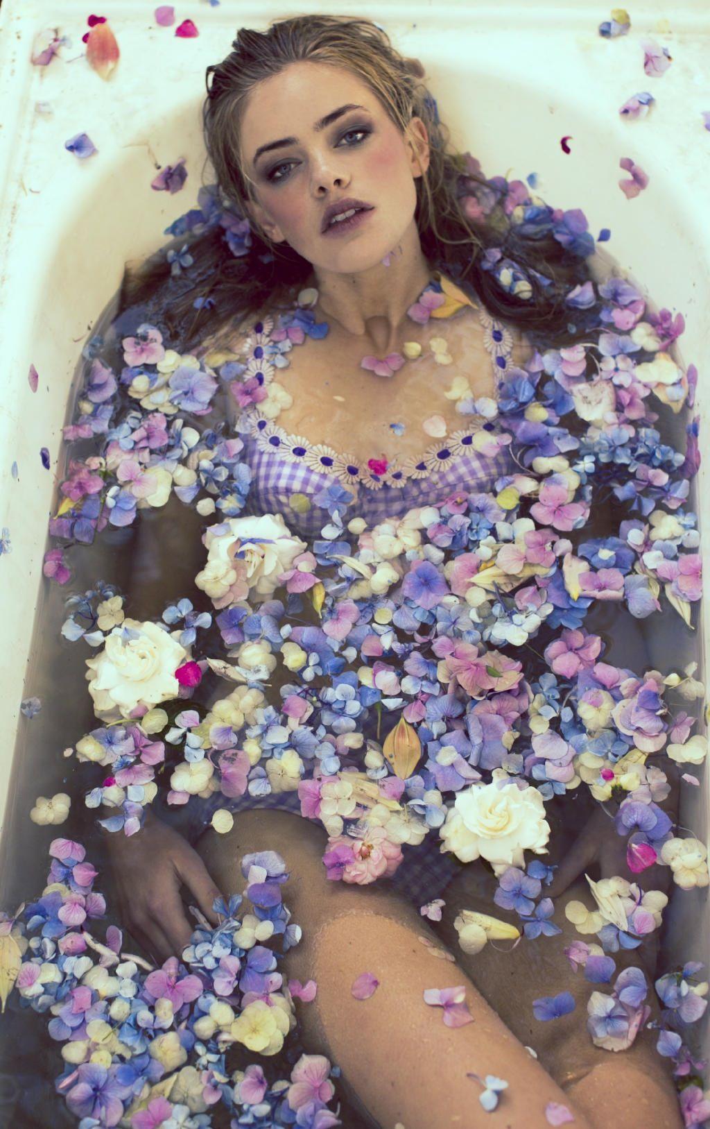 Tub petals water location mood board pinterest for Bathroom photoshoot ideas