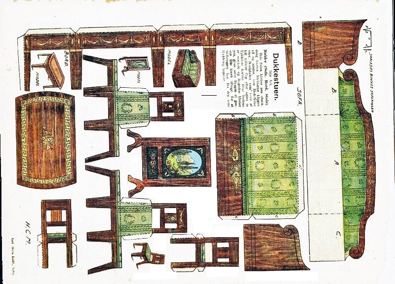 Paper printable living room dollhouse pinterest for Living room paper