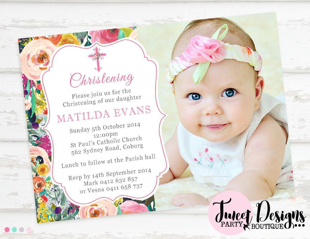 baby girl baptism invitations templates | trattorialeondoro