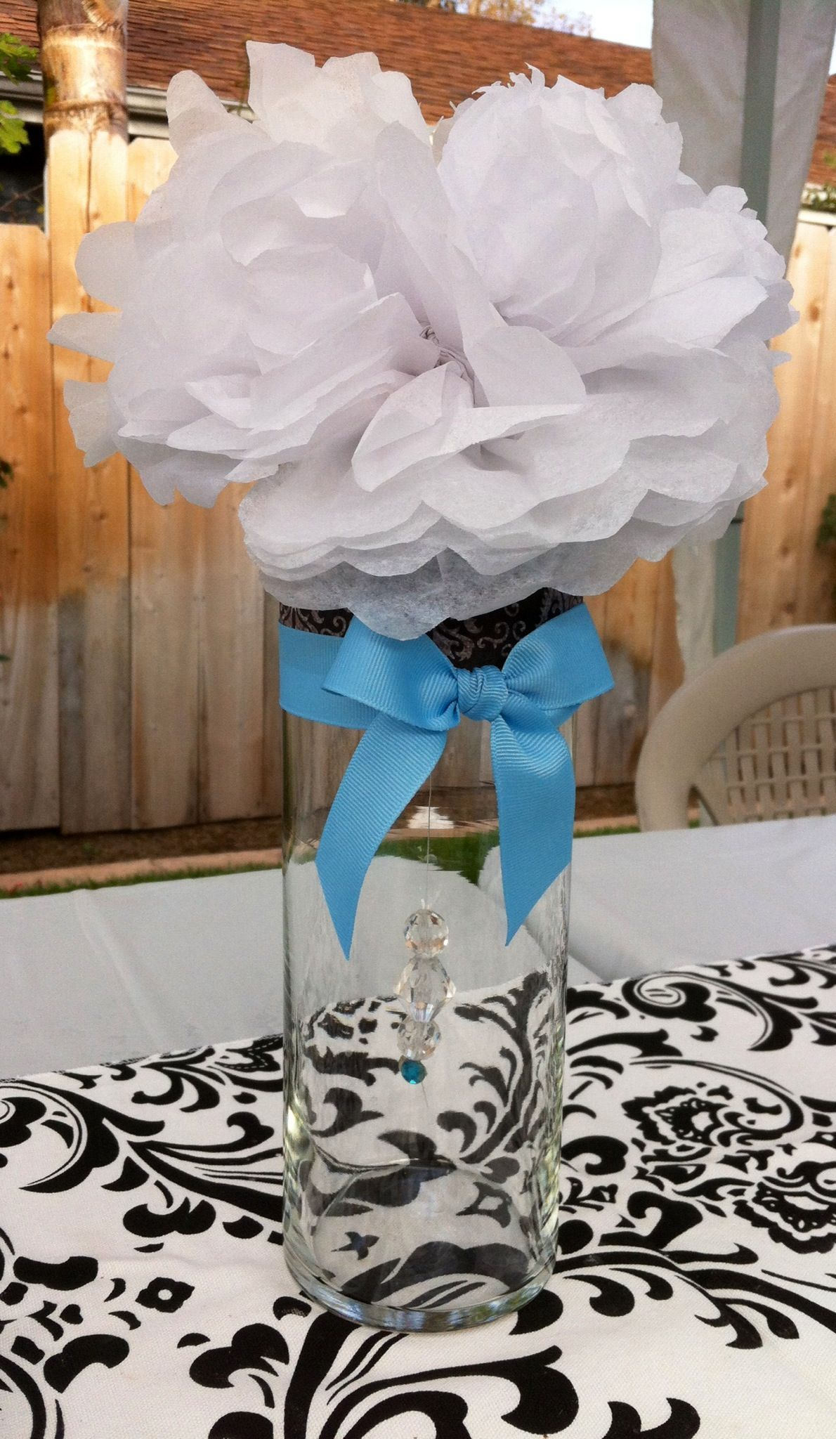 Baby shower centerpiece reveal party ideas pinterest for Baby shower decoration ideas pinterest