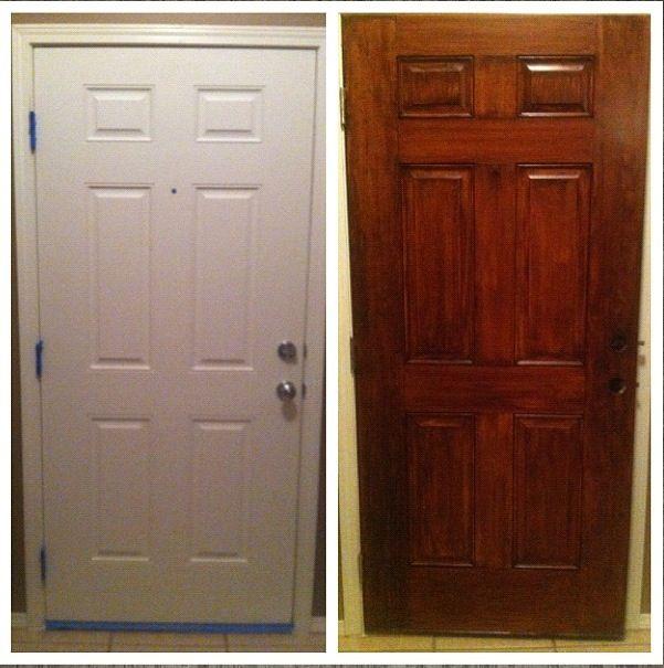 Gel Stain Did Wonders For Our Plain White Door Gel Stain