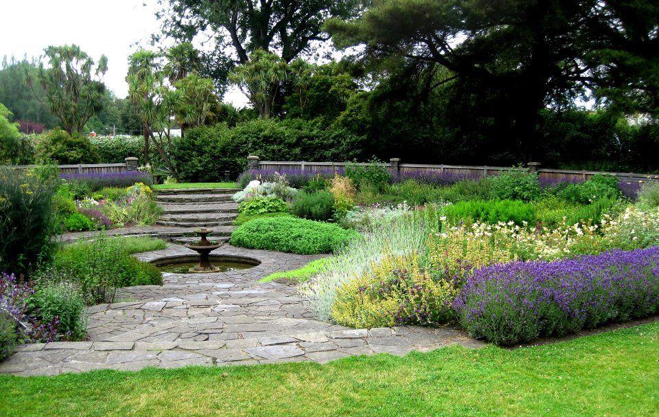 garden fountain flower gardening landscaping ideas pinterest