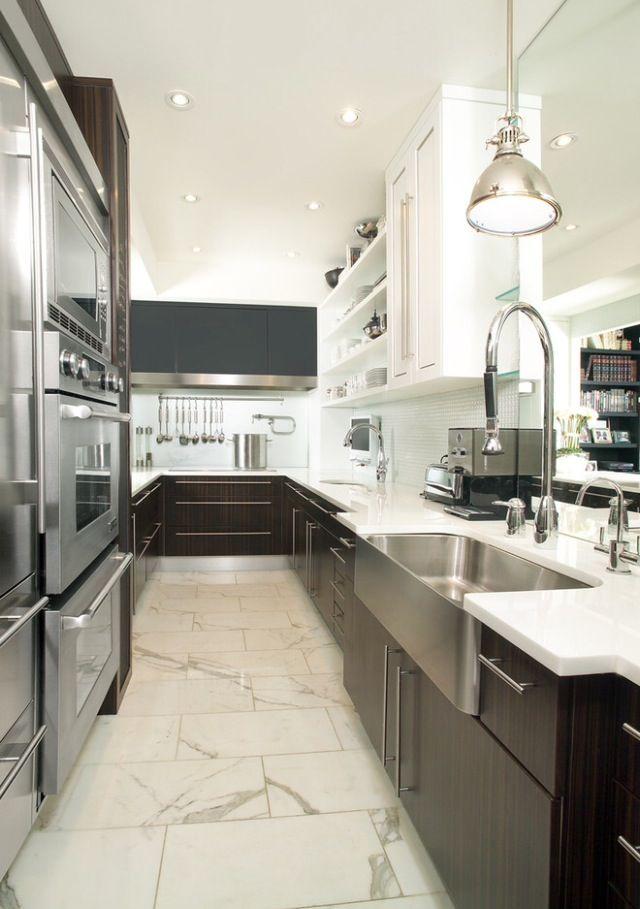 Beautiful Modern Galley Kitchen Home Pinterest