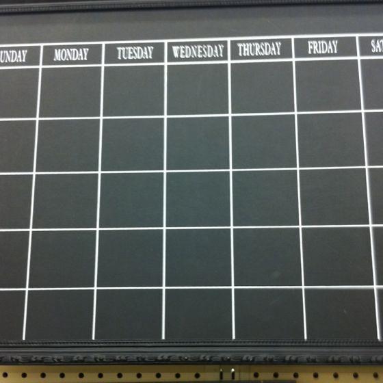 Chalkboard Calendar Framed : Chalkboard calendar hobby lobby laundry today or
