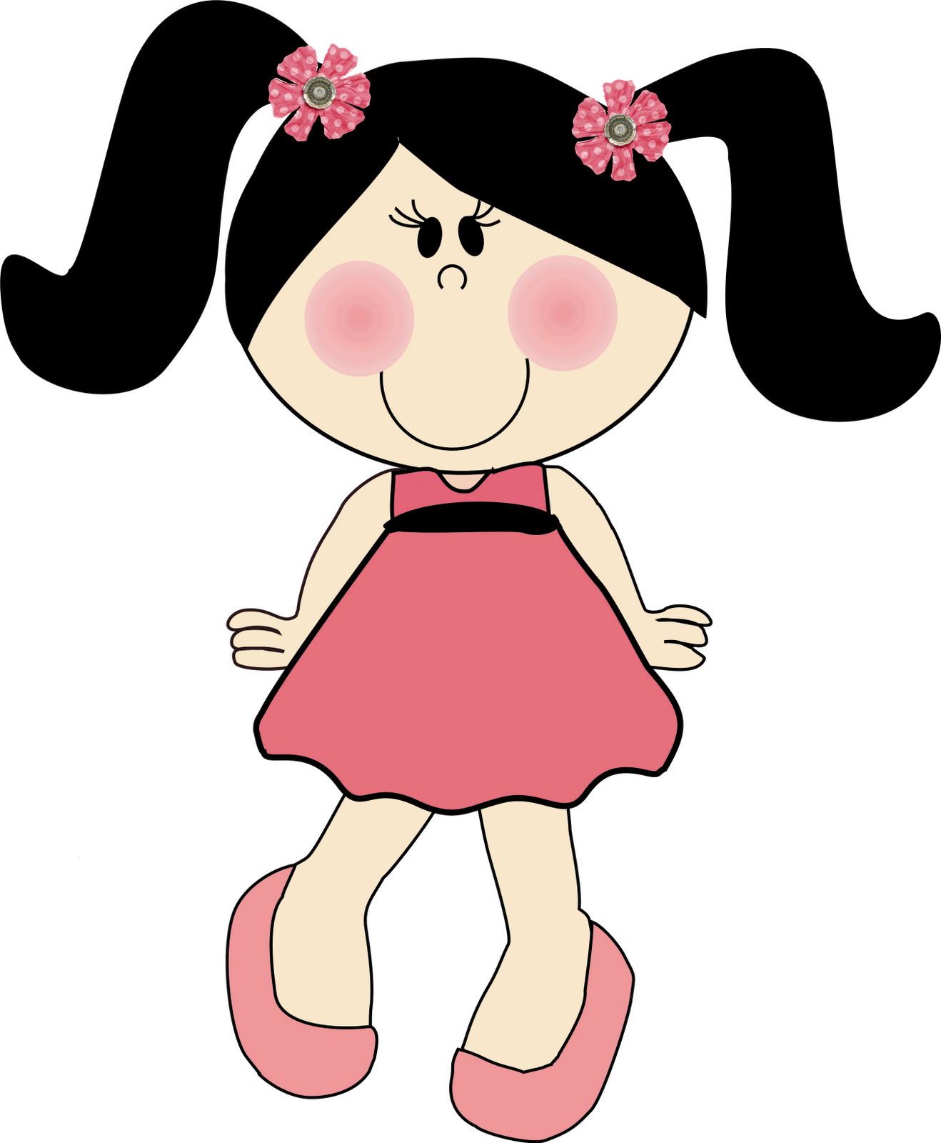 Foto desenho animado menina morena 50