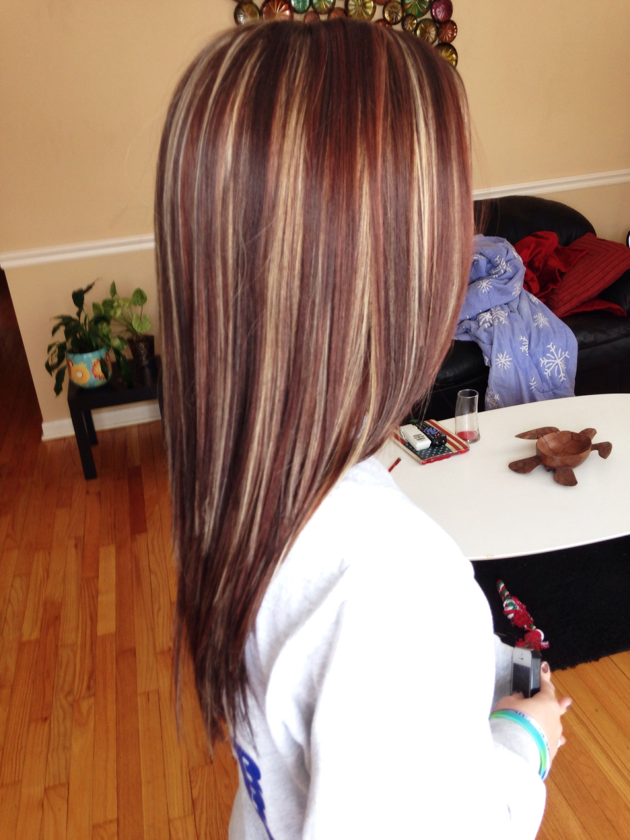 Beautiful! Highlights & lowlights #red | Hair :) | Pinterest
