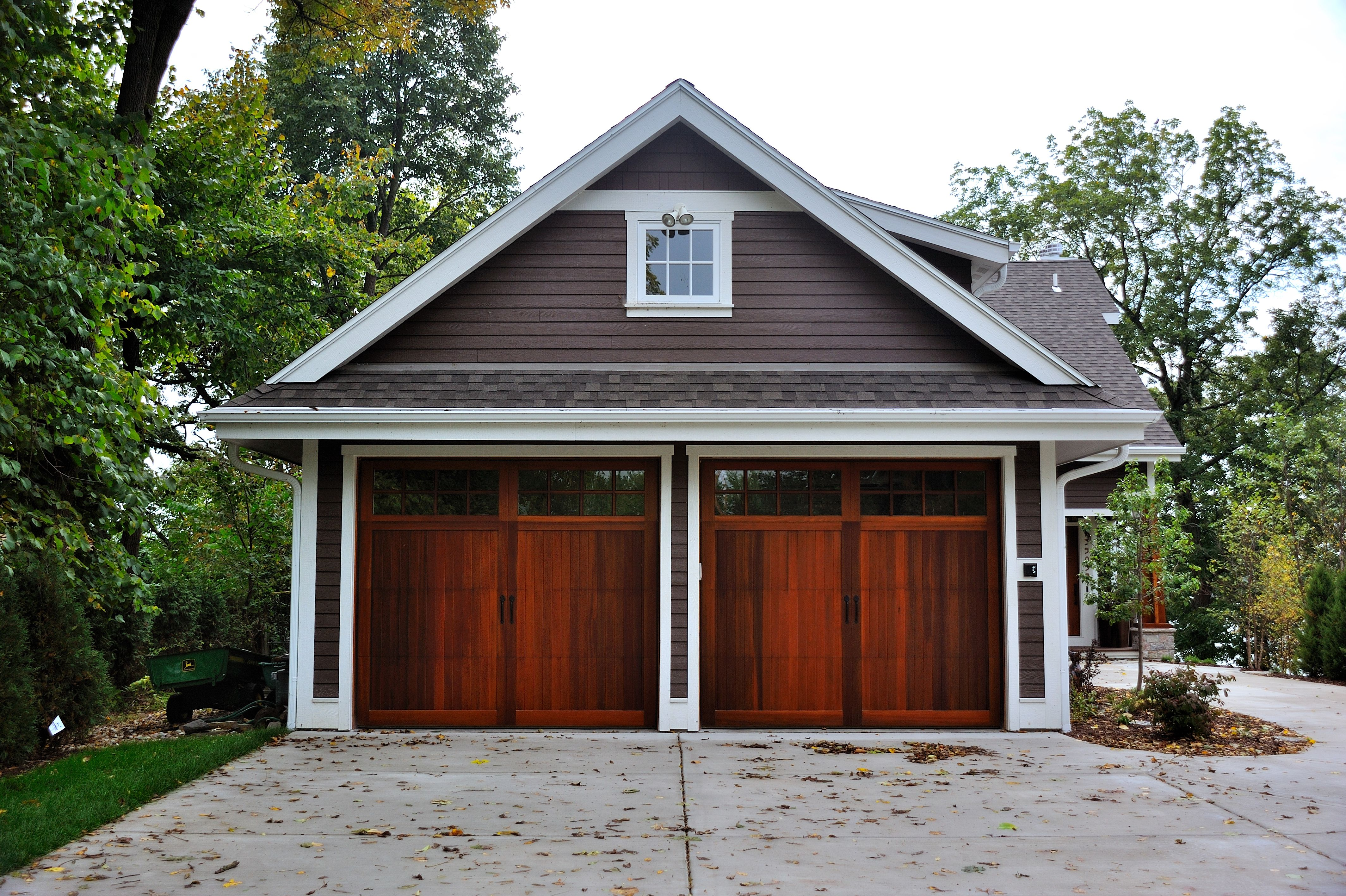 Cedar Overlay Garage Door By C H I Photo Ideas Pinterest