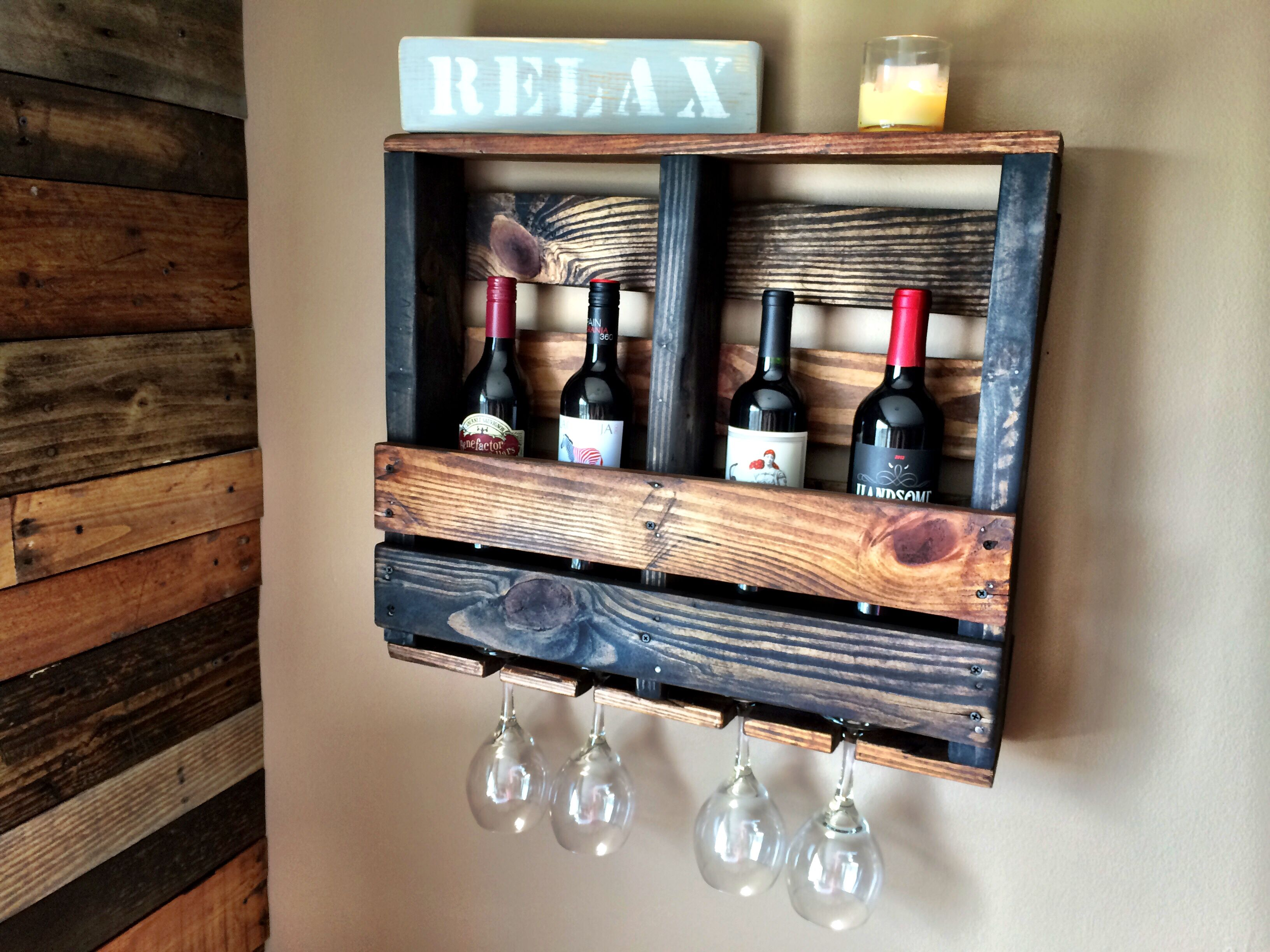 DIY Pallet Wine Rack Organization Pinterest