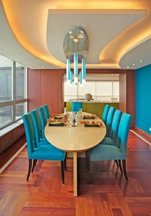 Lovely teal dining room chairs decor with style pinterest for Dining room ideas teal