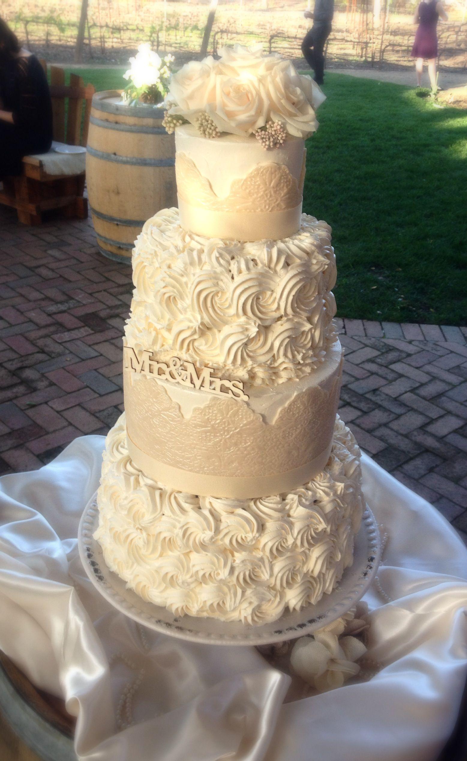 vintage rose lace wedding cake wedding cakes pinterest. Black Bedroom Furniture Sets. Home Design Ideas