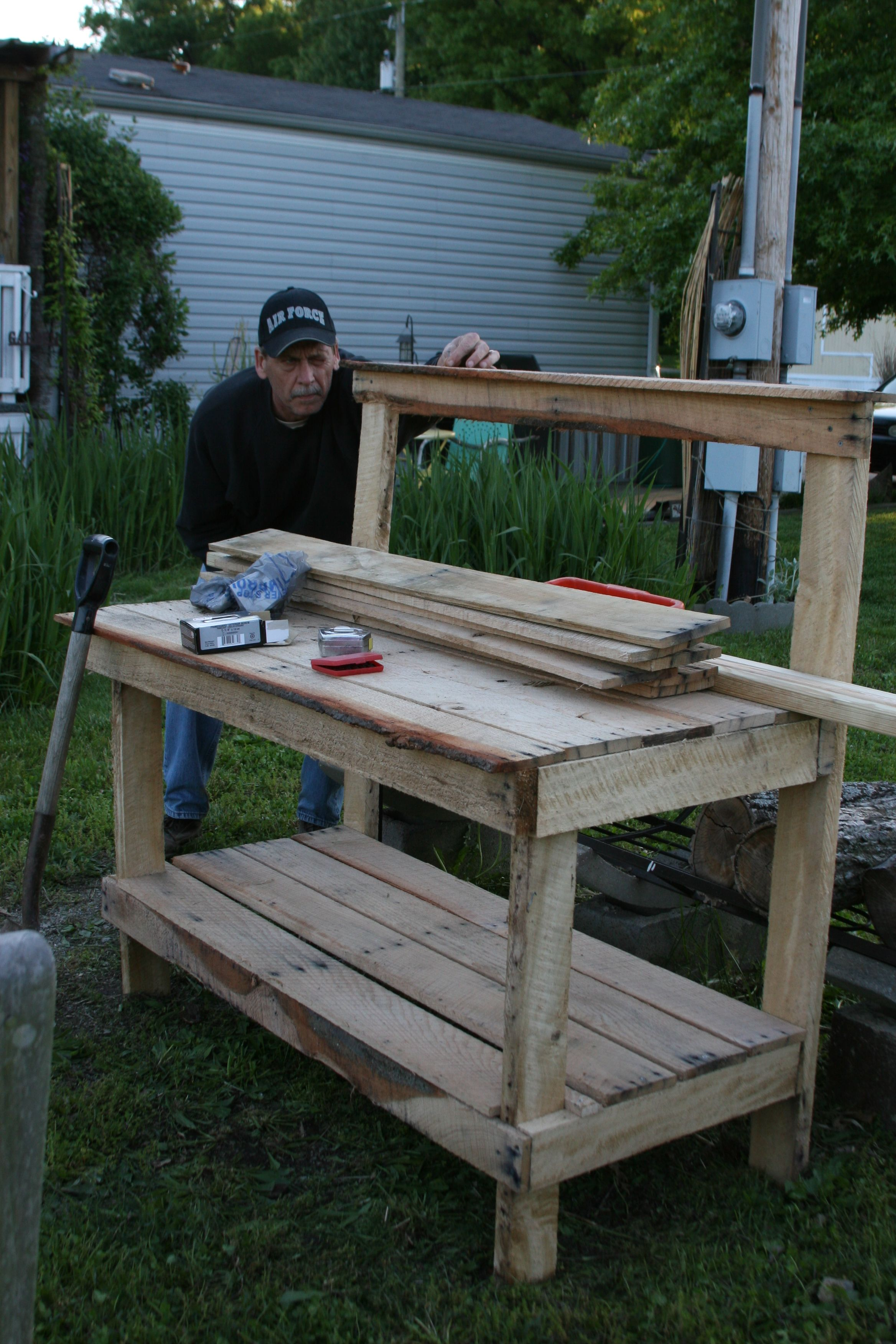 Garden Work Bench Gardening Ideas Pinterest