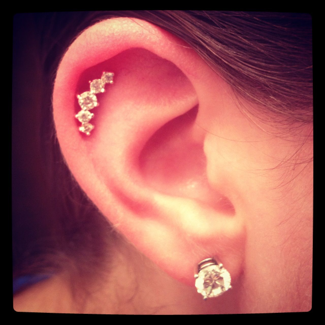 Diamond Earrings: Single Cartilage Earring