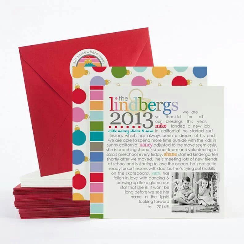 Love this Christmas letter idea!  Christmas card ideas  Pinterest