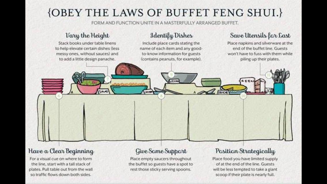 Buffet entertain friends pinterest