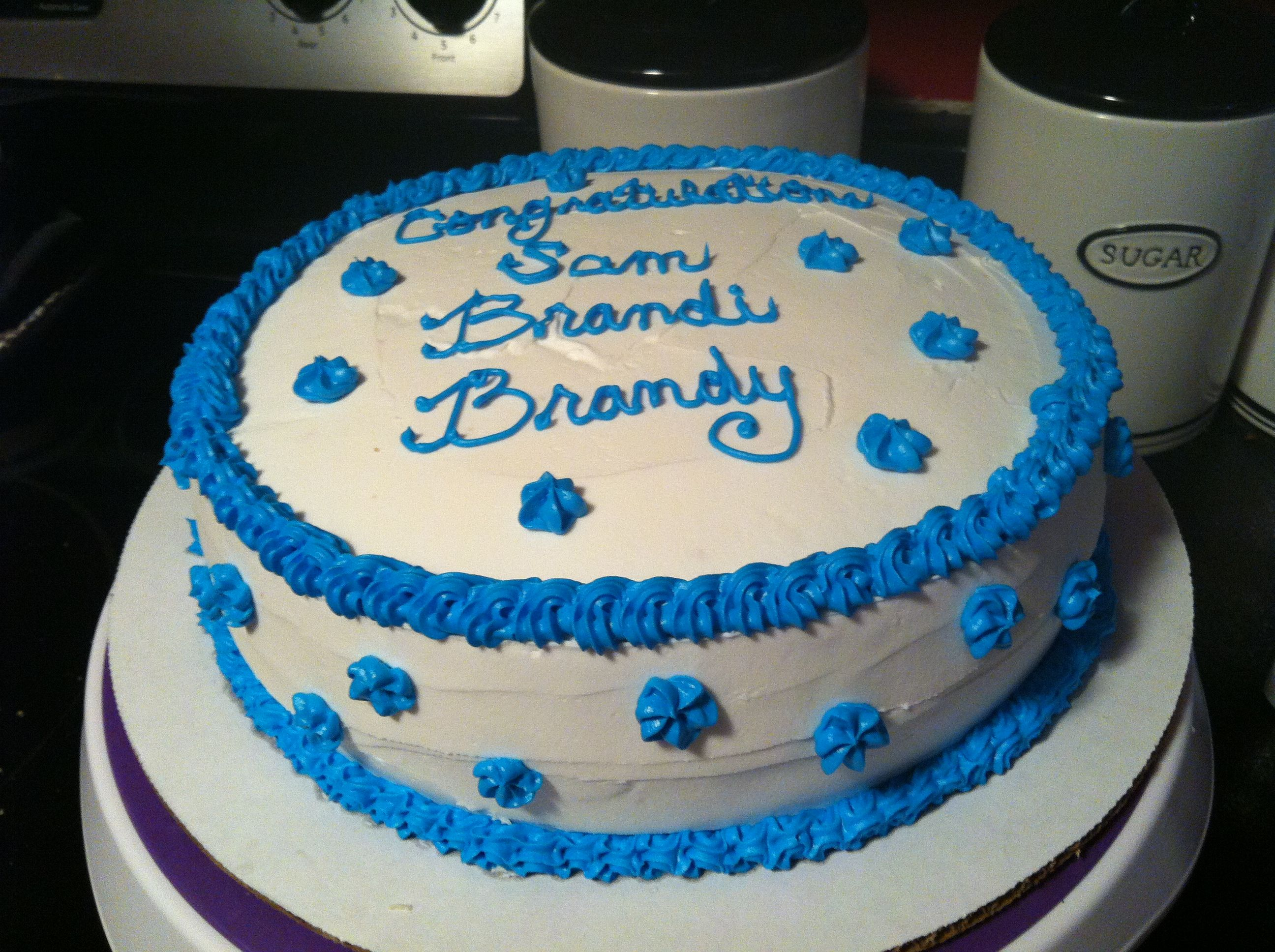 Easy Cake Decorating Ideas For Graduation : A very simple graduation cake or school. Cakes Pinterest