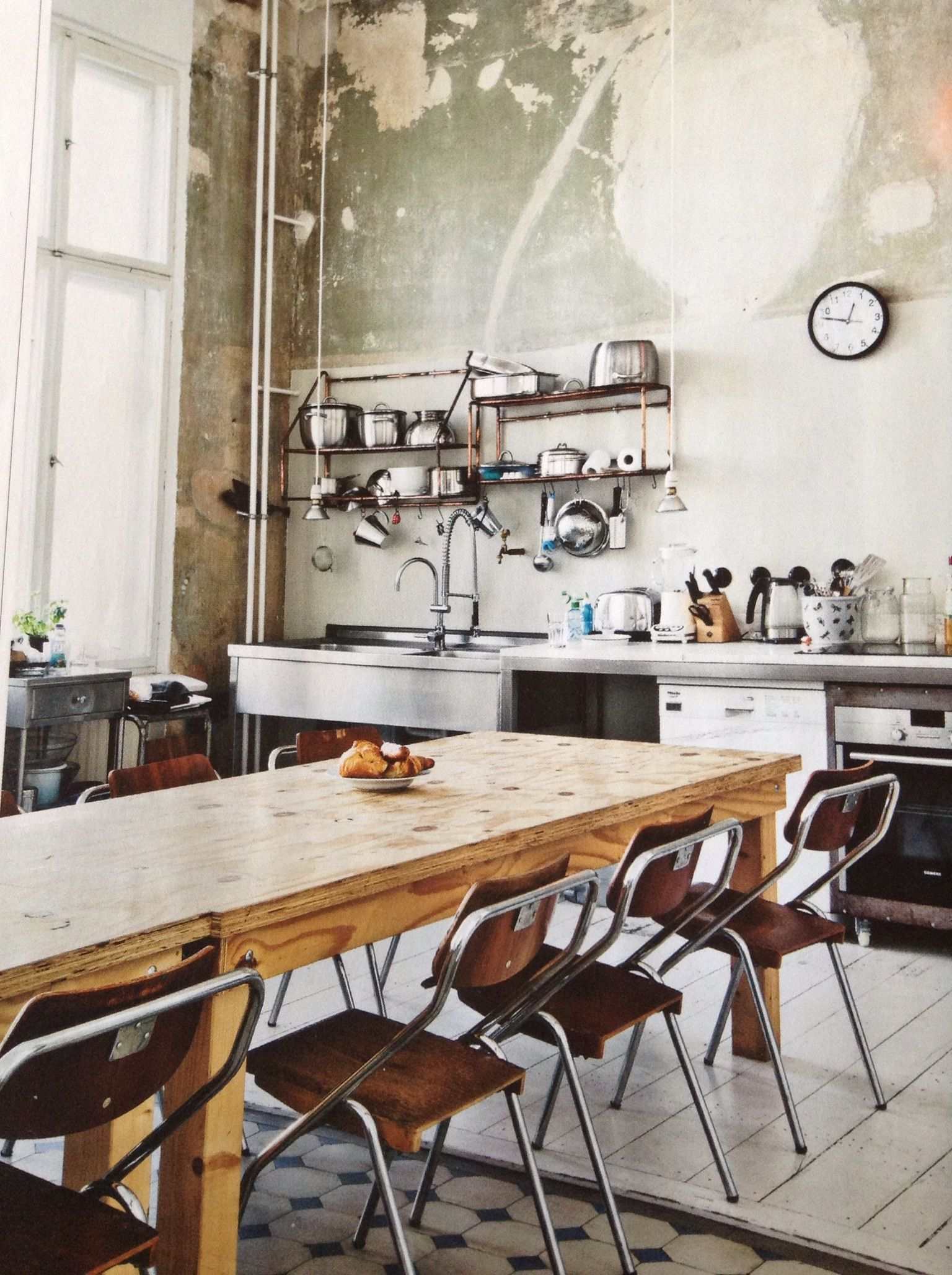 Industrial kitchen berlin house of love pin