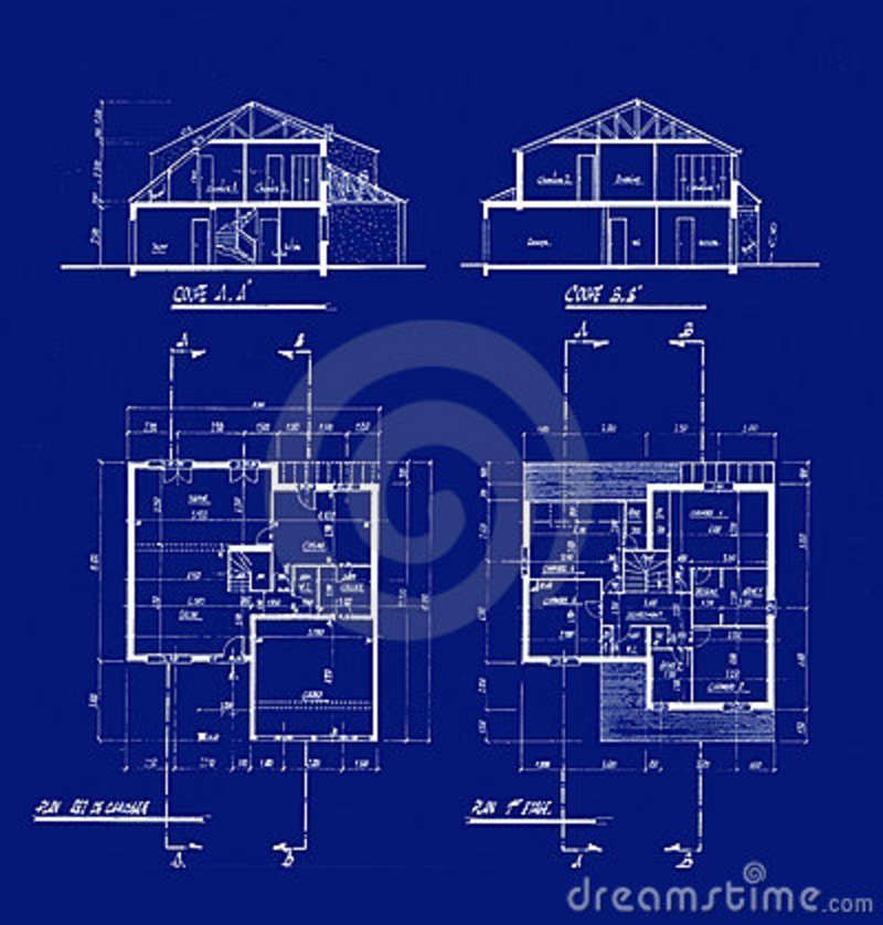 House blueprints 4506487 model sheet blue print Blueprints for my house