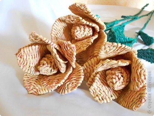 Цветы из бумажных трубочек