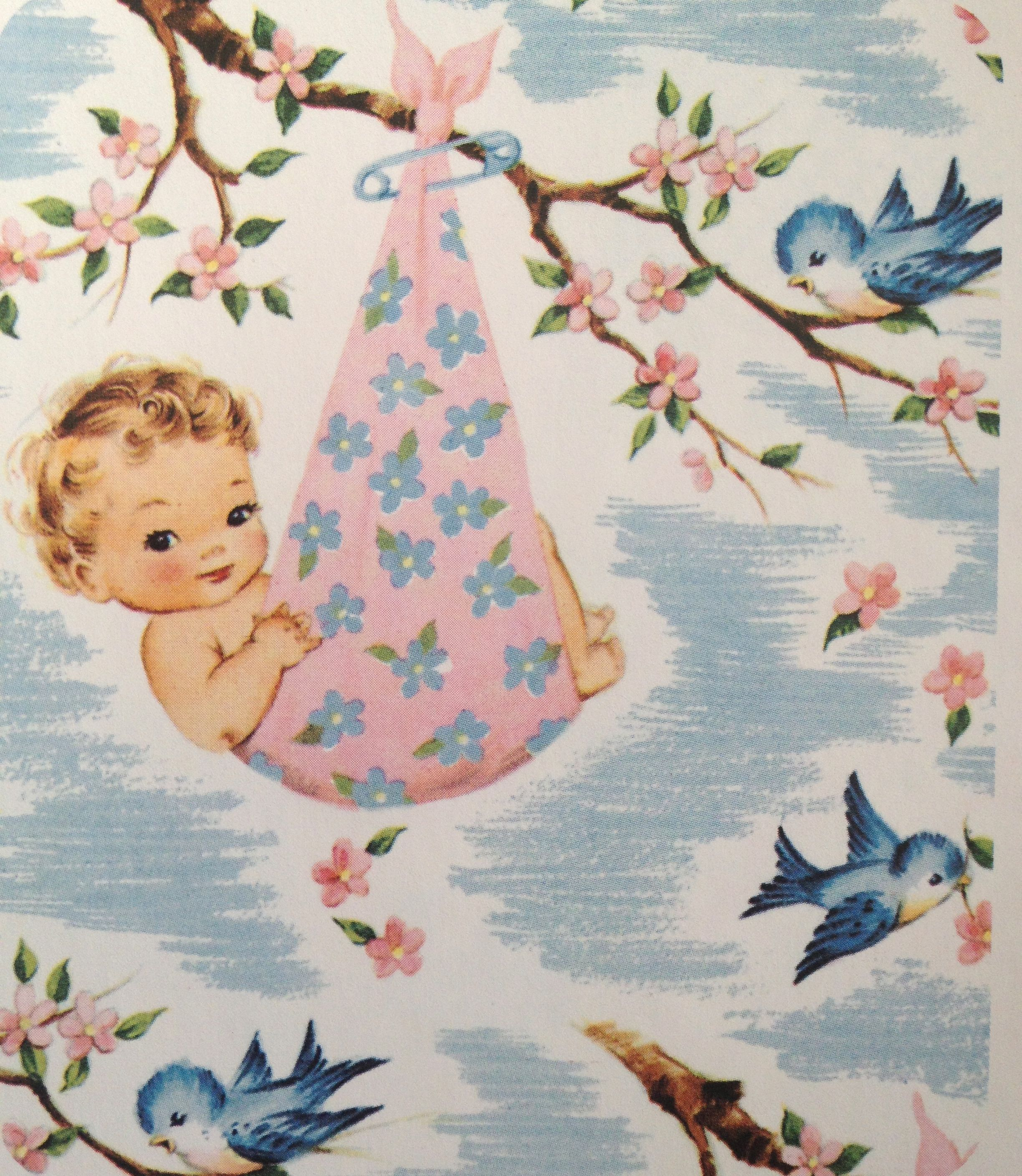 vintage baby shower wrapping paper baby shower pinterest