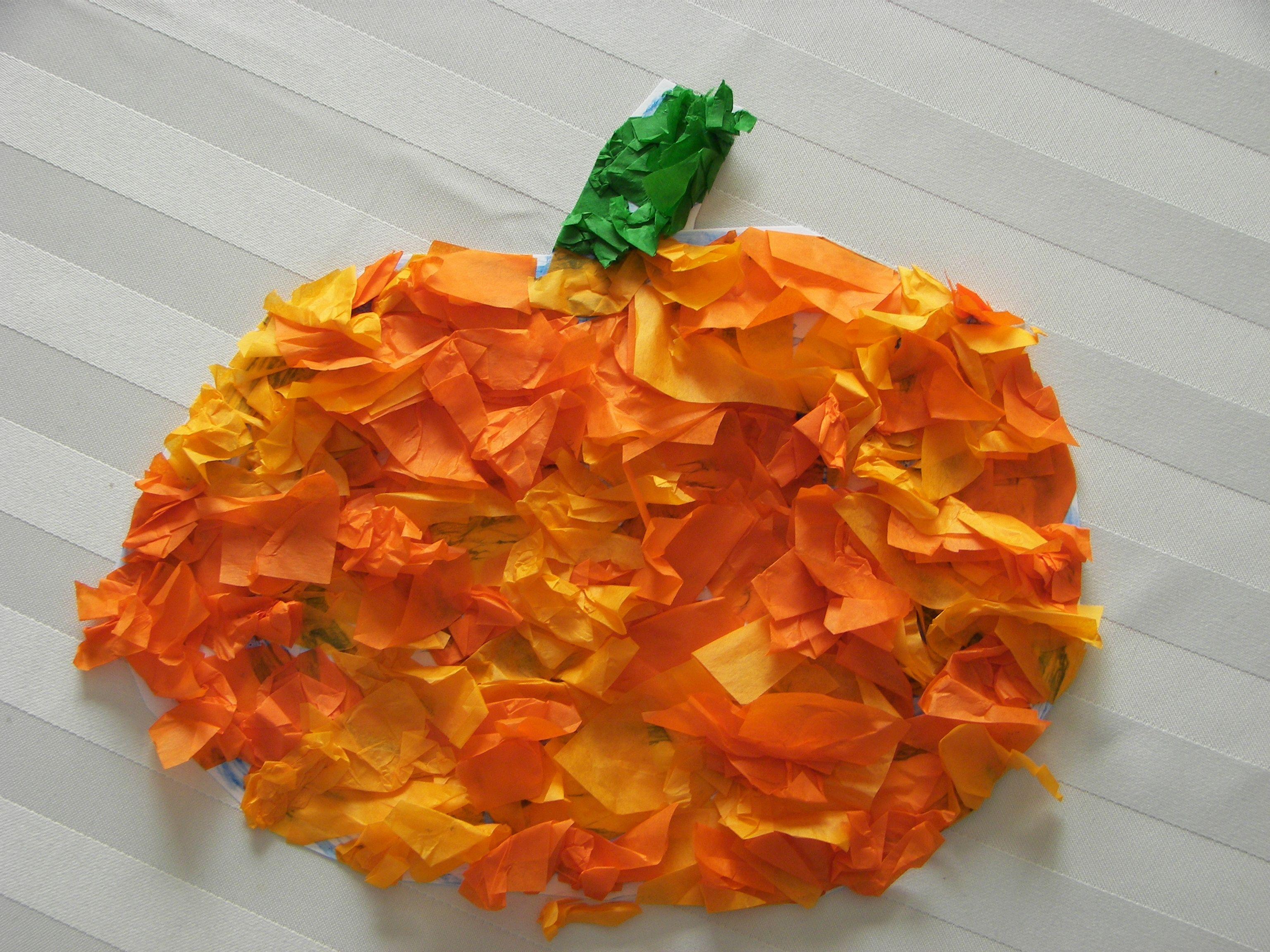It's just a photo of Astounding Pumpkin Preschool Craft