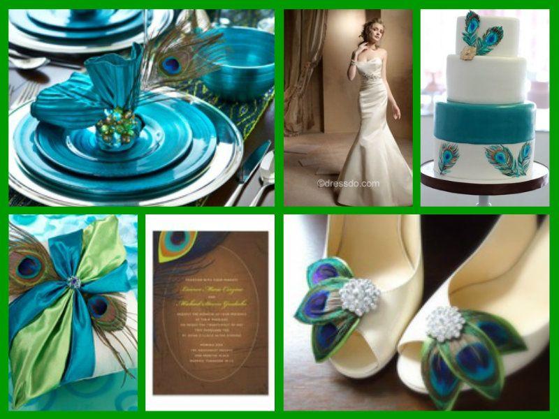 Peacock Wedding Color Schemes