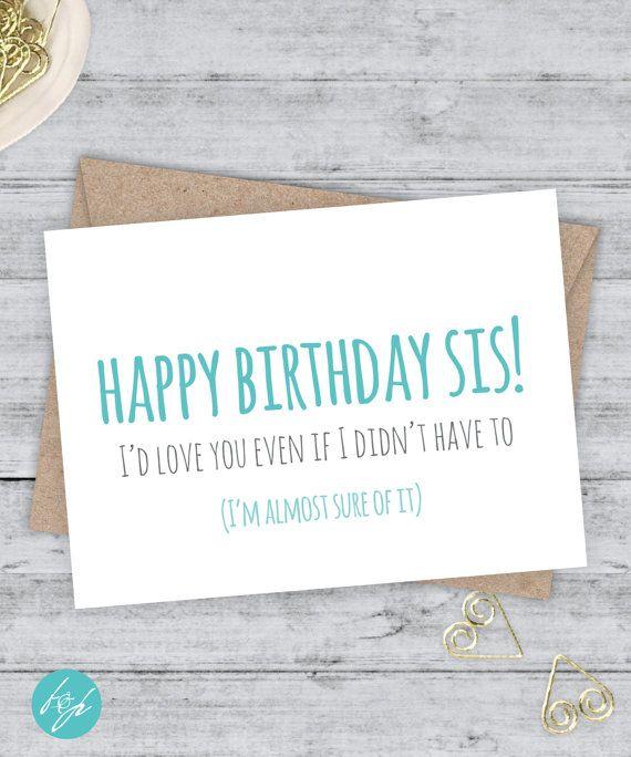 Funny Birthday Card Boyfriend Sister Brother