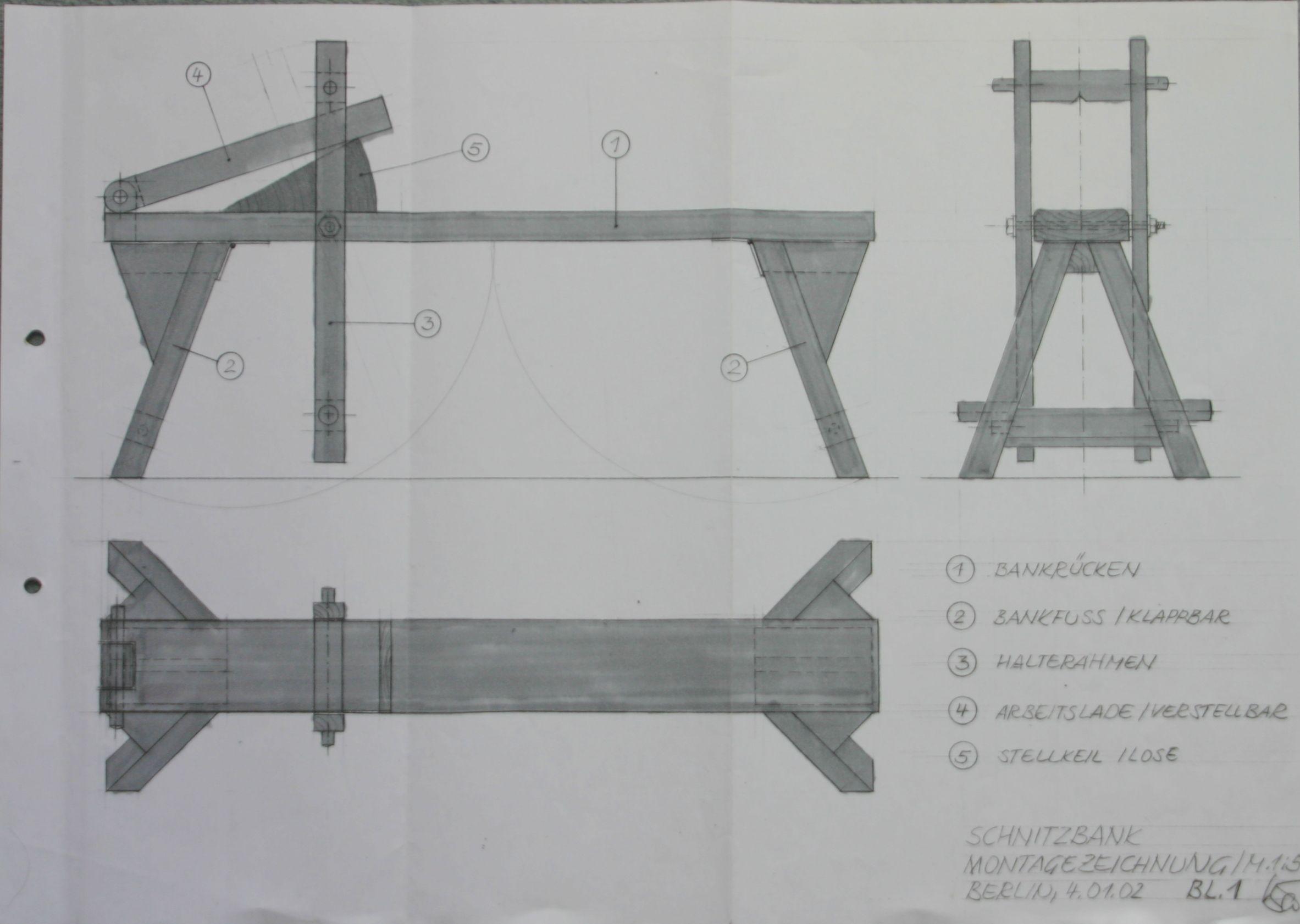Shaving Horse Plans 1 | Woodworking - Medieval Techniques ...