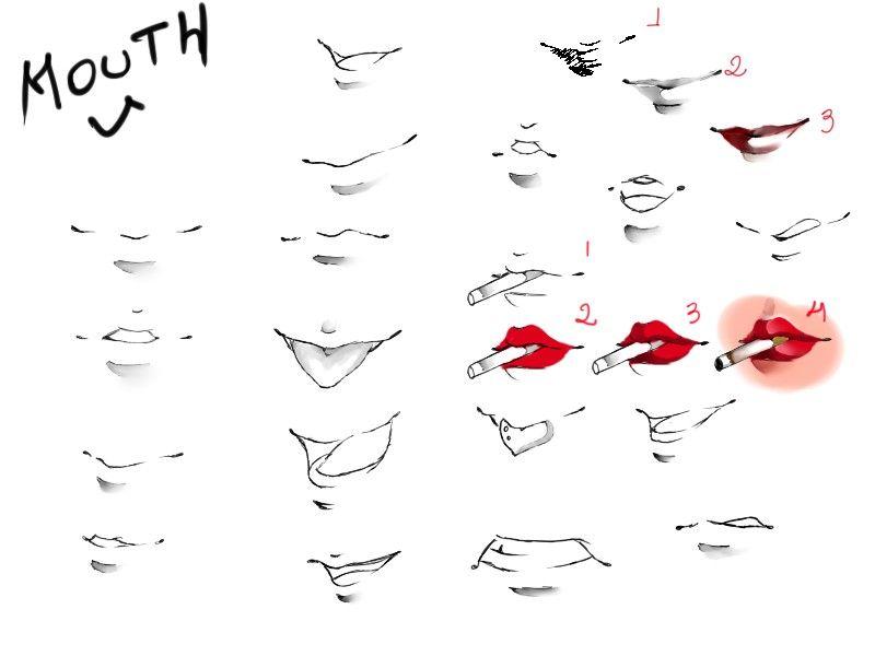 how to make anime lips