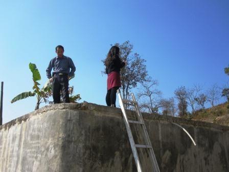 Water tank at Tingxi School
