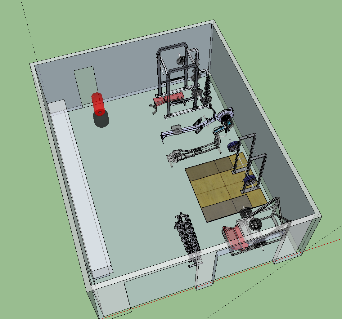 Draft gym layout my dream home pinterest for Home gym designs and layout