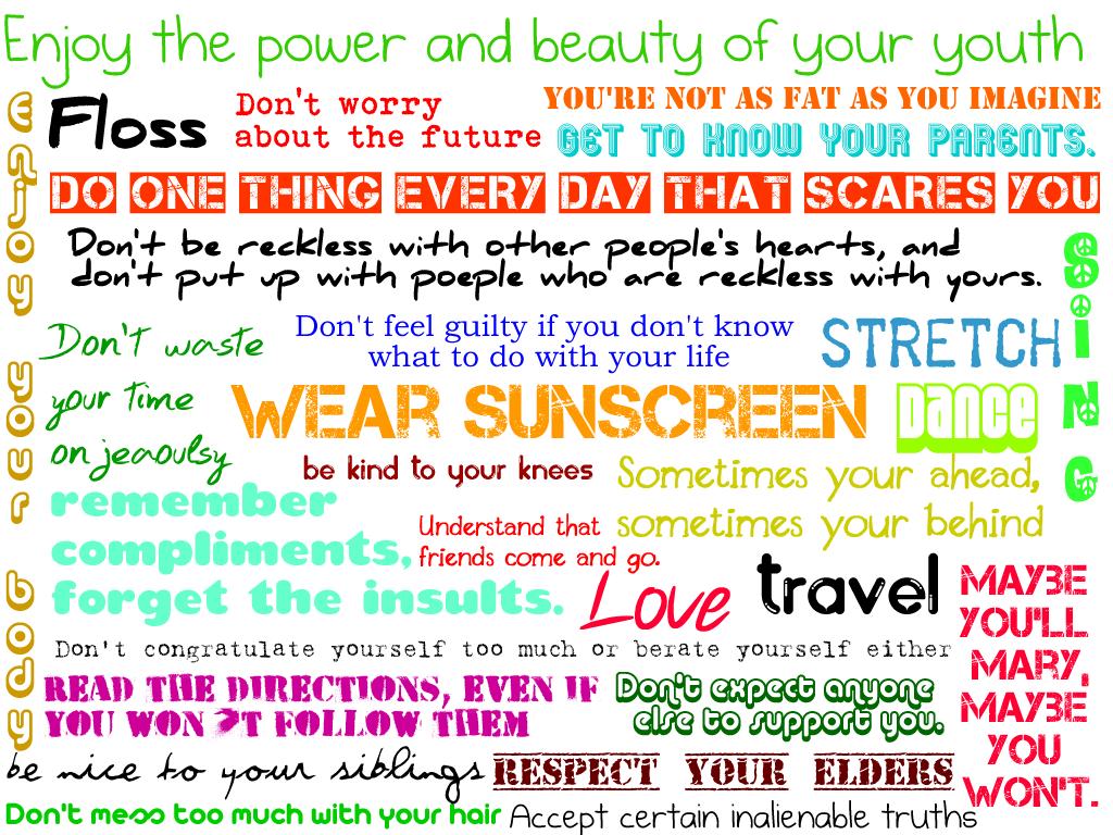 Wear Sunscreen